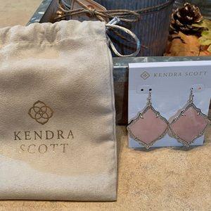 Kendra Scott Silver and Pink Earrings. BNWT!